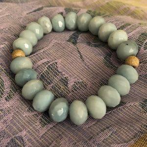 Aquamarine Gemstone Beaded Bracelet